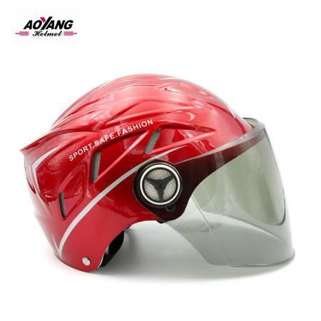 电瓶车头盔女电动摩托车男女士新款四季通用夏季防晒半覆盖夏天