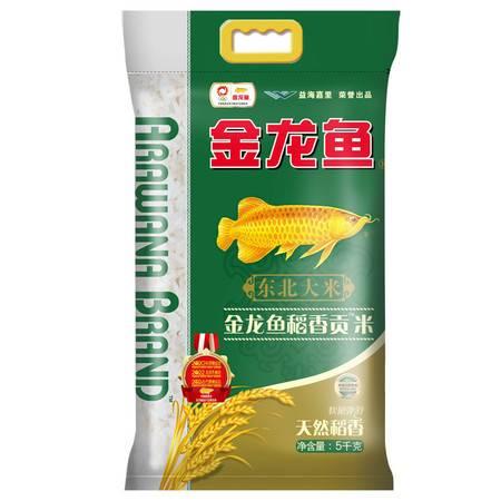 【领劵立减10元】金龙鱼稻香贡米5kg/袋 原稻花香米 东北核心产区香稻 包邮