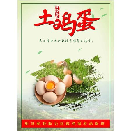 【邮政助力】射洪涪西桂花农场纯粮食喂养营养柴鸡蛋土鸡蛋50枚/盒