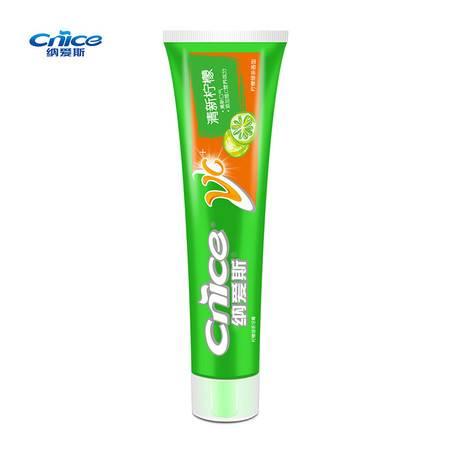 纳爱斯柠檬绿茶牙膏160g*8支绿茶水果味型牙膏