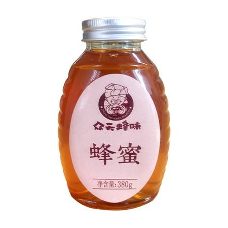 【新品上市】众天蜂味百花蜂蜜380g