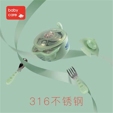 316不锈钢宝宝餐具套装 儿童注水保温碗叉勺三件套