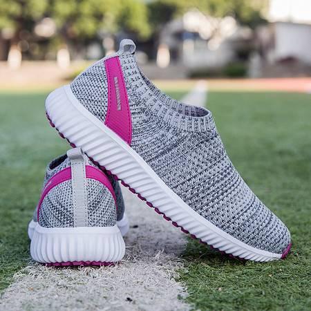 Y夏季网面透气安全中老年人运动鞋防滑软底爸妈鞋轻便健步鞋