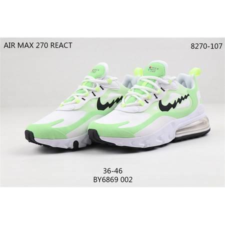 Nike Air Max 270 React 耐克大气垫波浪勾 男女跑步鞋情侣休闲运动鞋