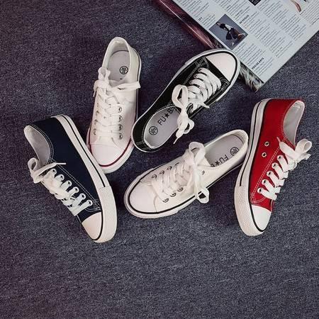 新款经典男鞋 基本款低帮帆布鞋男女帆布鞋休闲单鞋硫化胶鞋韩版学生板鞋ZXX