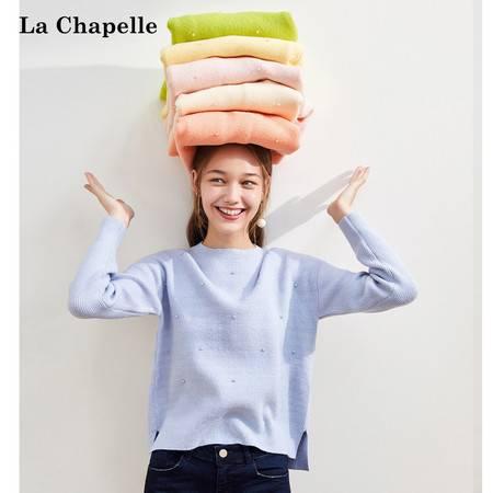 甜美糖果多色毛织套头2019秋季新款俏皮减龄款长袖上衣LMC