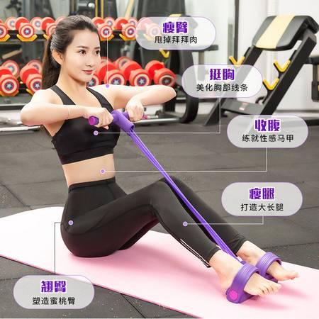 多功能瑜伽拉力器拉力绳脚踏脚蹬弹力绳腿部拉力器仰卧起坐健腹器健腹器厂XDZ图片