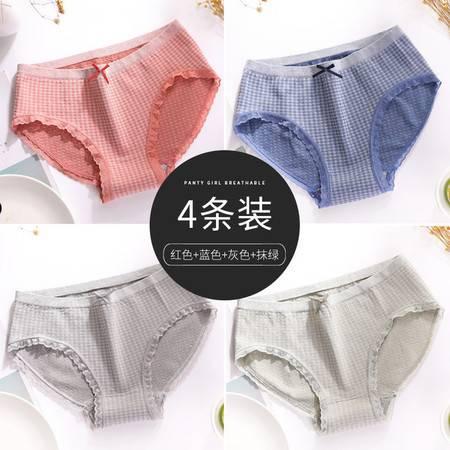 南极人(Nanjiren)女士内裤女棉质性感时尚纯色蕾丝边打底裤5条礼盒装 混色JF
