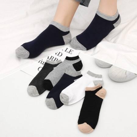 【5双】春夏季男士船袜 吸汗透气短筒袜女士棉袜船袜浅口隐形袜学生短袜薄款男士船袜FX