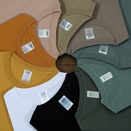 新疆棉纯棉纯色短袖T恤男女T现货重磅250g爆款t恤厚实打底衫