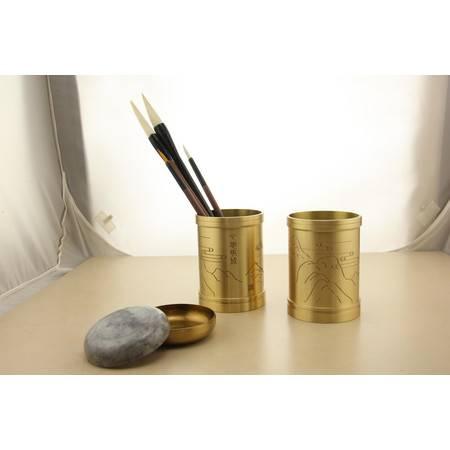 中国古铜都  安徽铜陵铜官府特色铜制工艺制品  铜制笔筒