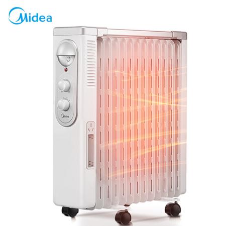 美的/MIDEA 电暖取暖器气风电热油汀家用电热暖气片立式多功能办公室NY2513-16FW