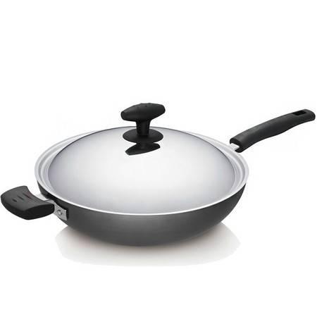 苏泊尔/SUPOR 陶瓷新陶晶核晶不粘锅无油烟炒锅电磁炉通用厨房烹饪锅具 32cm高拱盖PC32Q3