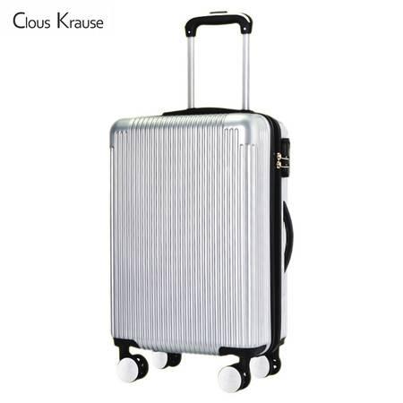 ClousKrause 20寸静音双排轮拉链箱CK-601 银色,黑色 双色可选