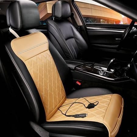 欧班尼 打孔透气加热马甲汽车坐垫 单张空调座垫 冬垫 加热垫
