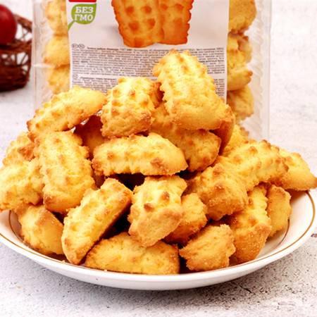 【买二送巧克力一块】--俄罗斯原装进口红丝带玉米酥奶香甜早餐饼干手指酥儿童食品250克 包邮