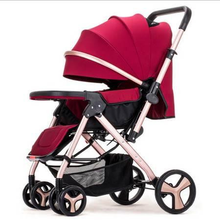 星月辰 高景观双向可坐可躺婴儿推车出行婴儿童车
