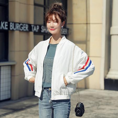 乡情浓   短外套女韩版休闲棒球服春秋外搭棒球衫上衣小外套休闲显瘦6138