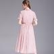 法米姿   新款夏女式连衣裙欧美雪纺荷叶边收腰显瘦连衣裙99020