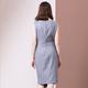 法米姿    秋装新款知性中裙修身包臀灰色无袖通勤连衣裙99319