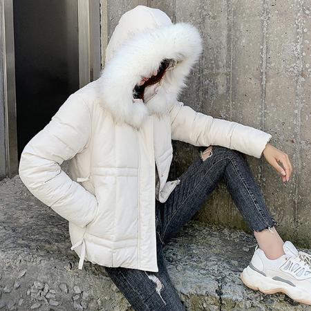 乡情浓   冬季新款女式棉袄韩版宽松加厚连帽棉衣外套短款棉服6173