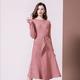 法米姿   秋装新款套装气质优雅设计感小众针织毛衣+不规则裙两件套29319