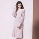 法米姿    秋装新品女针织套装裙个性时髦V领蝙蝠袖宽松上衣+显瘦百褶裙29318