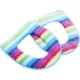 欧润哲 2个装法兰绒厚制彩虹纹拉链马桶垫
