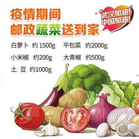 【赣县】 抗疫新鲜蔬菜(套餐B) 仅限赣县城区客户购买