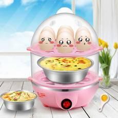 送蒸蛋碗分离器量杯勺子克美帝单双层三层蒸煮蛋器 蒸蛋羹器