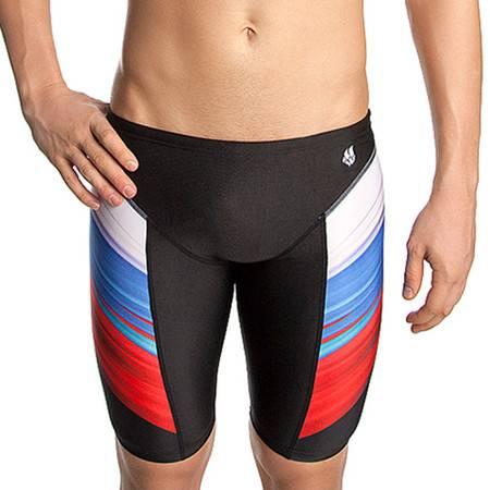 迈俄威madwave男士长版泳裤 条纹透气防晒速干五分泳裤M1433 01 4 Q1W