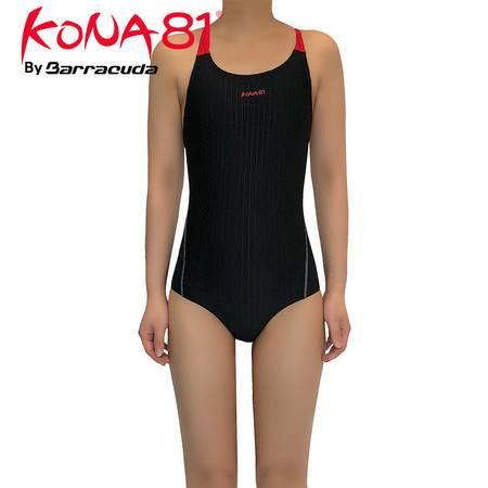 美国巴洛酷达KONA81系列 交叉挖背抗UV連身泳裝 无胸垫 三角女士泳衣03-18