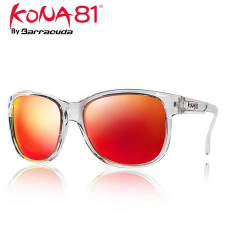 美国巴洛酷达KONA81系列太阳眼镜 抗雾 防紫外线 电镀 多层太阳眼镜镀红透明