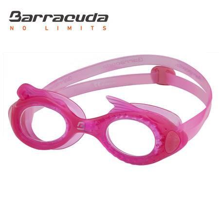 美国巴洛酷达Barrcuda女童泳镜 抗雾防紫外线一体式美人鱼泳镜#13220粉红