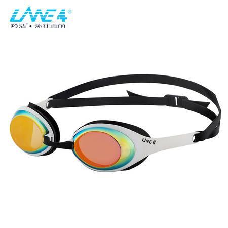 羚活LANE4品牌电镀泳镜 男女通用 大框防水防雾抗紫外线泳镜A941
