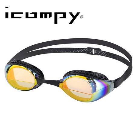 美国LANE4  icompy电镀泳镜 男女通用 抗紫外线防水防雾泳镜VC-952