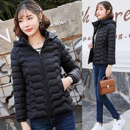 韩域丹依娜2019冬季短款羽绒棉衣女韩国新款宽松显瘦学生面包服女式棉袄外套