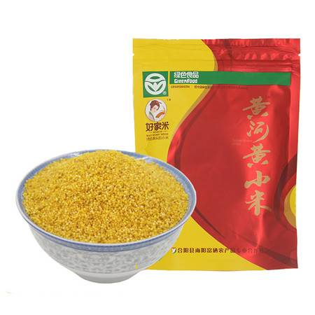 陕西特产合阳富硒小米黄河黄小米450g独立包装