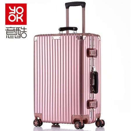 意酷防刮铝框行李箱万向轮拉杆箱旅行箱29英寸男女士登机箱子升级磨砂防刮1608