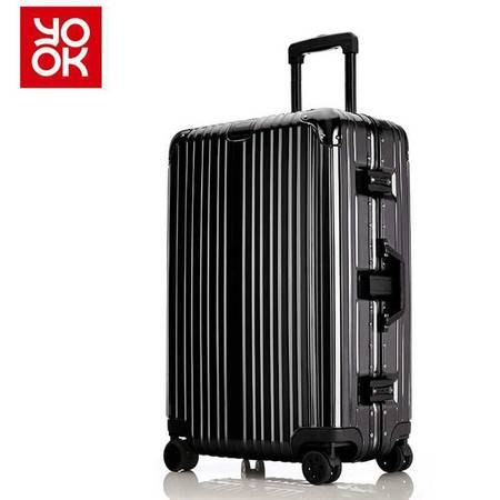 意酷(YKOO)铝框拉杆箱万向轮行李箱学生旅行箱29英寸男女士登机箱子1510