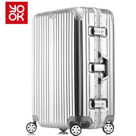 意酷(YKOO)铝框拉杆箱万向轮行李箱学生旅行箱26英寸男女士登机箱子1510