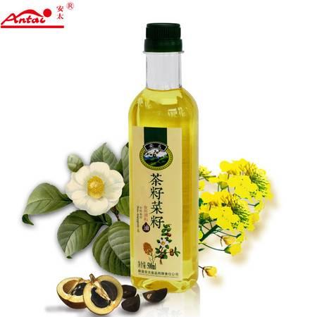 食用油 茶油 安太山茶油 菜籽食用油调和油 压榨一级 500ml