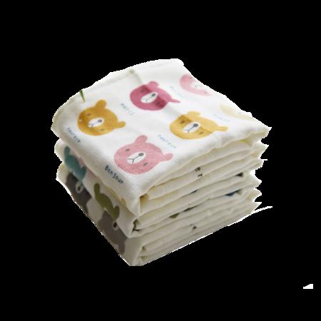 J.June卡通童巾2块+成人竹纤维毛巾2块组合 再赠毛巾套装