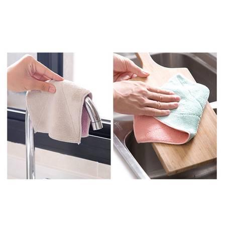 北欧色吸水洗碗布3条混色装加厚擦桌布毛巾厨房不沾油不掉毛清洁抹布擦手巾