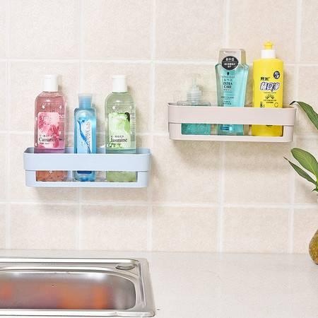品兔 (2个装)北欧风粘贴置物架 置物篮浴室收纳免钉置物架 厨房储物架