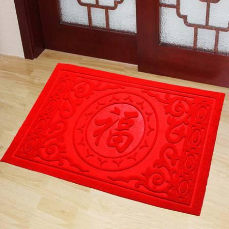 ( 45*70cm)门口入户地垫地毯进门蹭脚垫除尘防滑塑料橡胶PVC丝圈门垫