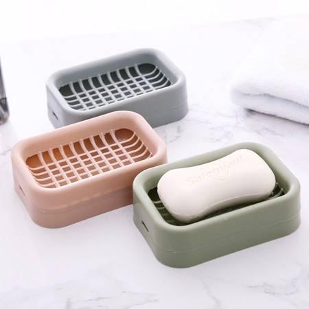 3个装 创意浴室双层沥水肥皂盒肥 卫生间时尚手工皂架香皂盒皂托