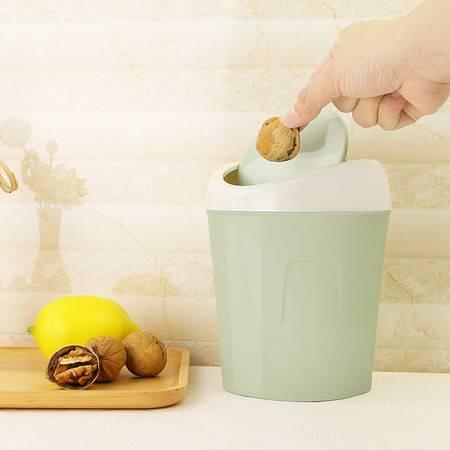 垃圾桶 收纳桶小号带盖桌面垃圾桶迷你家用客厅桌上床头上翻盖垃圾桶