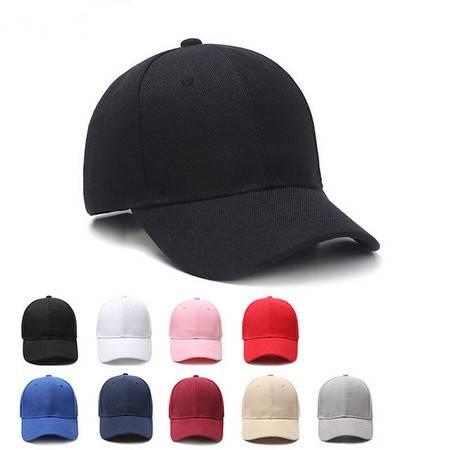 帽子 春夏天黑色男士女士 遮阳 棒球帽 韩版弯檐鸭舌帽子