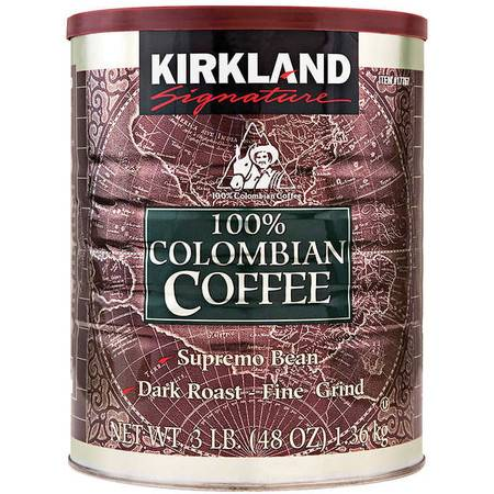 柯克兰/COSTOC 深度烘培哥伦比亚咖啡粉